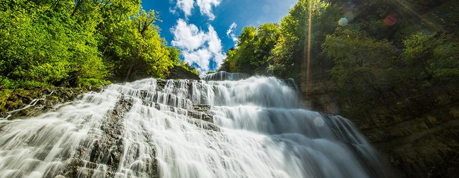 cascade région des lac jura